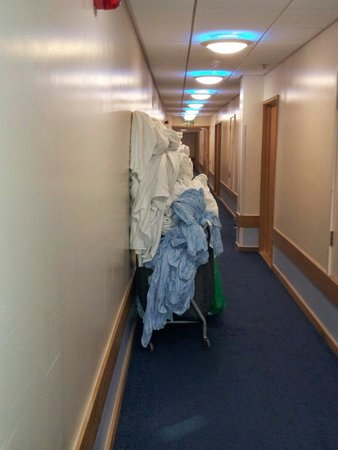 Travelodge Gatwick Airport Central: This is a fire hazard for disabled wheelchair users. The smell is very bad.