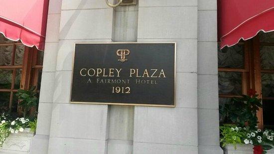 Fairmont Copley Plaza, Boston: Front