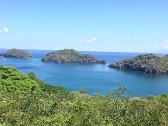 Four Seasons Resort Costa Rica at Peninsula Papagayo: beautiful view from top of four seasons golf course in costa rica