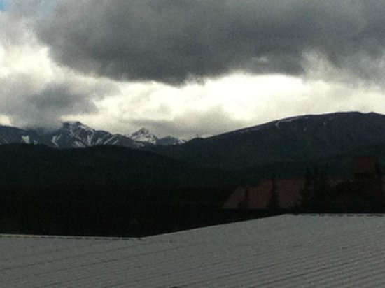 Denali Park Salmon Bake Cabins: View from cabin on a cloudy day