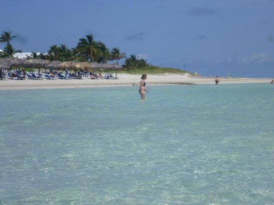 Blau Marina Varadero Resort: Desde el mar, mirando La Playa