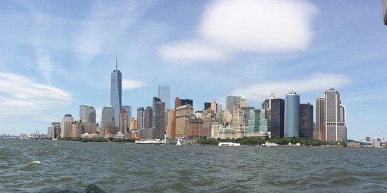 Manhattan by Sail - Shearwater Classic Schooner : NYC skyline 6-21-14