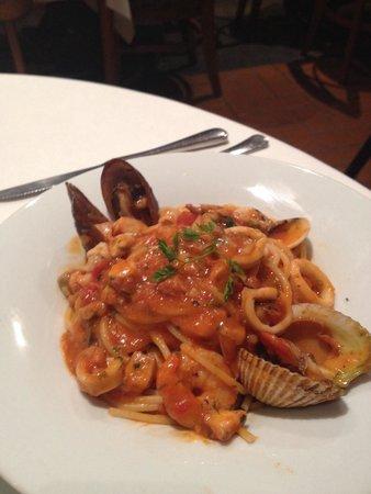 Mistura : Spaguetti com frutos do mar
