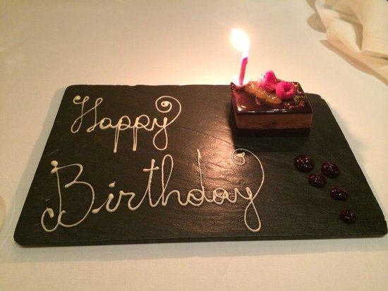 The Grill at The Dorchester: Special birthday touch for my wife. Compliments of the Dorchester!