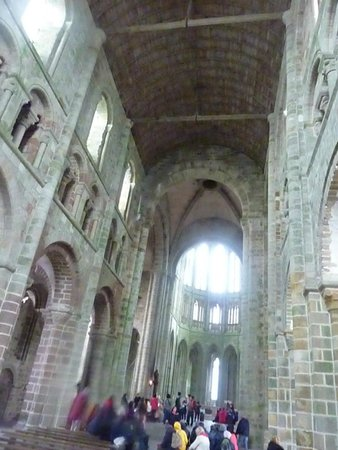 Abbaye du Mont-Saint-Michel : Inside the abbey at the highest point