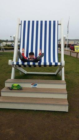 Primrose Valley Holiday Park - Haven: Primrose Valleys giant deck chair!