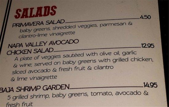 Cuckoo's Nest Mexican Food: Salads