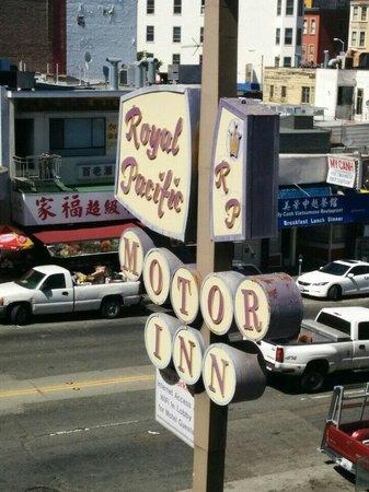 Royal Pacific Motor Inn: La vue de la chambre