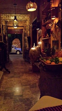 La Fonda de la Noche: Looking from my table - towards the entrance of the restaurant