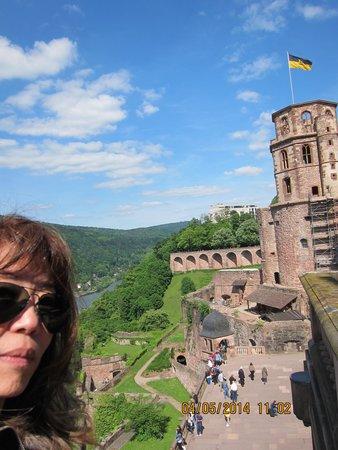 Schloss Heidelberg: olha eu no castelo