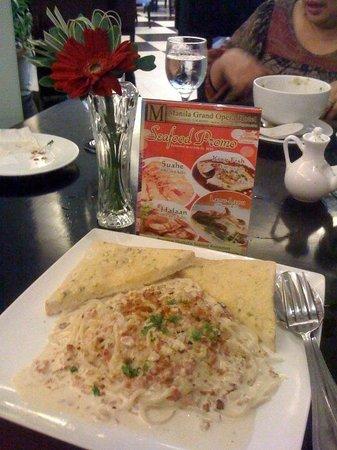 Spaghetti Carbonara at Manila Grand Opera Hotel's Lobby Resto