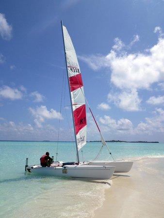 Olhuveli Beach & Spa Maldives: Catamaran on the Sandbank