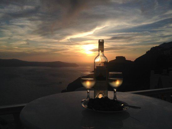 Santorini View: Sunset from the balcony