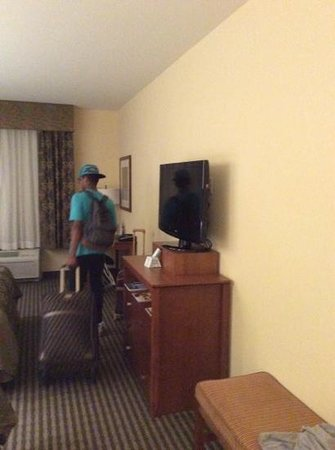 BEST WESTERN PLUS Westgate Inn & Suites: nice tv my son taking his side of the room
