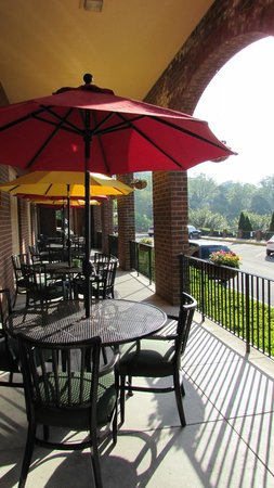 Natural Bridge Historic Hotel & Conference Center: Patio outside of the Red Fox Tavern