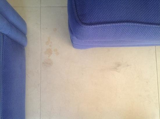 Phoenician Resort - Broadbeach: floor not cleaned prior to our check in- this was in the living area