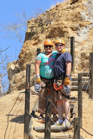 Wild Canyon Adventures : heading to another zip station