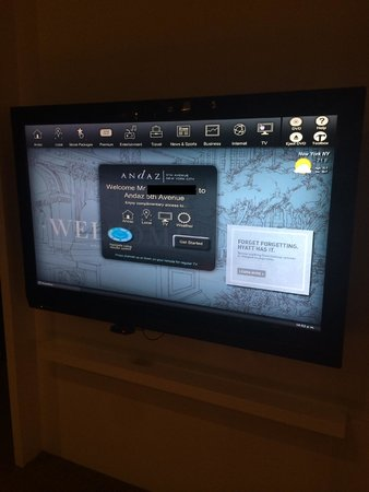 Andaz 5th Avenue: TV welcomes you by name!