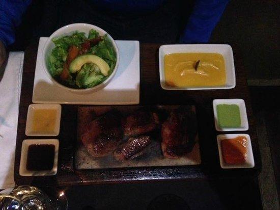Uchu Peruvian Steakhouse: meat trilogy (alpaca, beef, lamb)