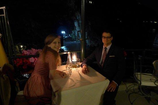Hotel Onda Verde: Romantic dinner at the Onda Verde overlooking the marina