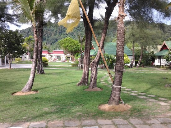Golden Bay Cottages: Resort grounds