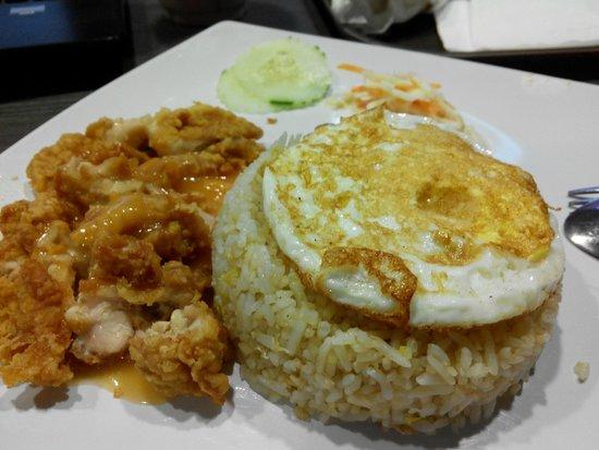 Tea Garden Kangar: Fish Chop with Fried Rice