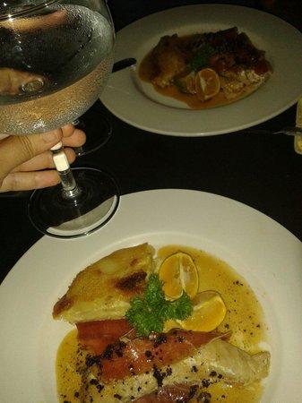 Restaurant La Bastille: Mero con jamón