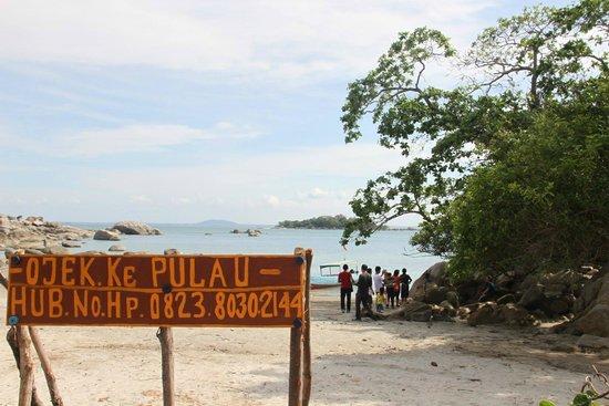 Pulau Bangka, Indonesia: traditional boat, drive me to Putri Island, Tanjung Penyusuk Beach Belinyu Bangka