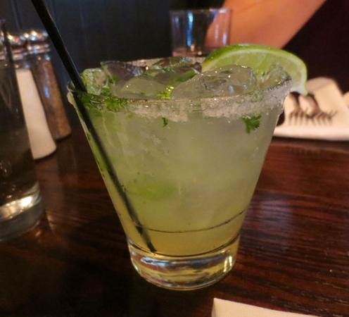 Johnny's Tavern: Cilantro lime margarita infused with jalapeno