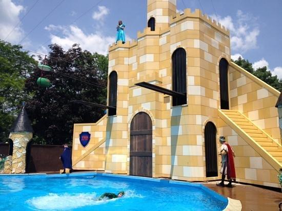 Dutch Wonderland : princess and frog diving show