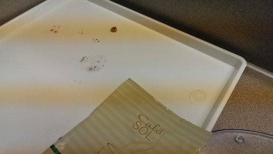 Days Inn Leavenworth: Moldy tray