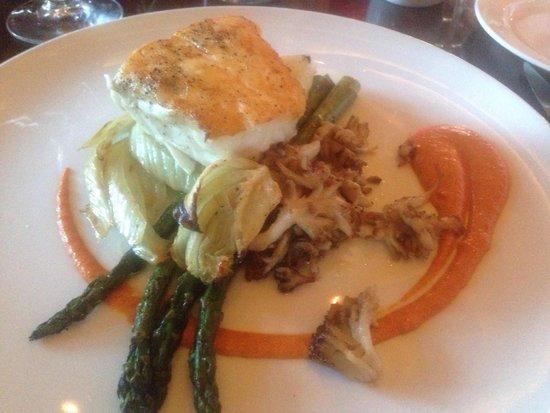 Five Spice Seafood + Wine Bar : Halibut Special