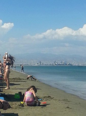 Lady's Mile Beach: Limassol in the distance