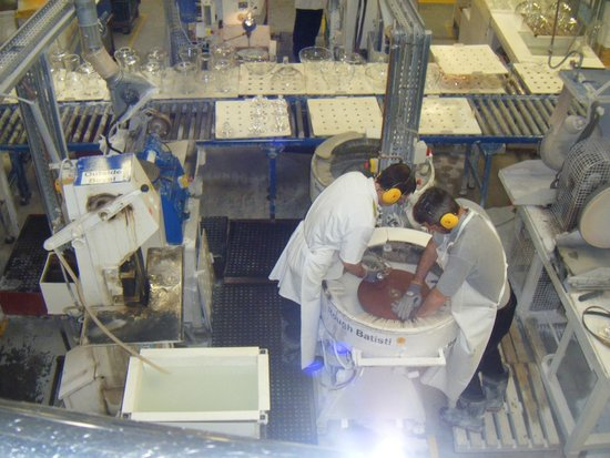 Waterford Crystal: Taken from above the shop floor, watching the process from beginning