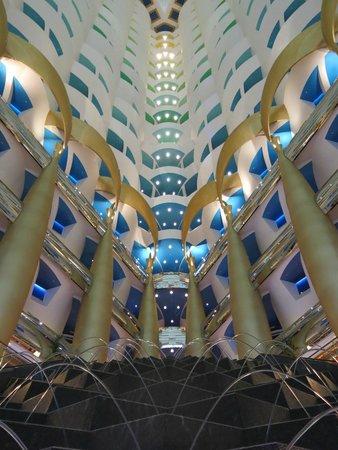 Culinary Flight: Atrium/Lobby of Burj Al Arab