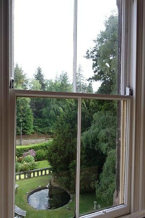 The Cluny Bank Hotel: view from Cavanagh room (front garden)