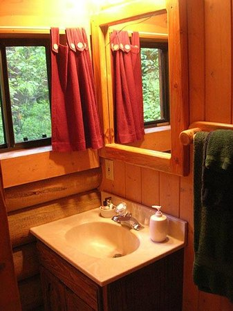 Swan Lake Cabins : Bear's Den Cabin - Bathroom