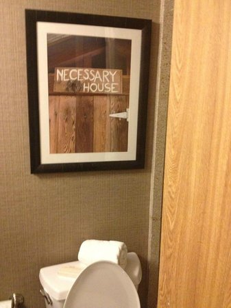 Hilton College Station & Conference Center: Cute sign in the bathroom :)
