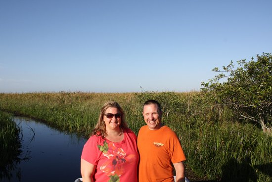Airboat In Everglades : After a fun ride!