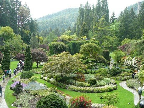 The Butchart Gardens: The sunken garden