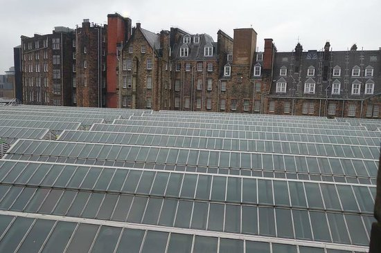 Grasshoppers Hotel Glasgow: view of station rooftop from room