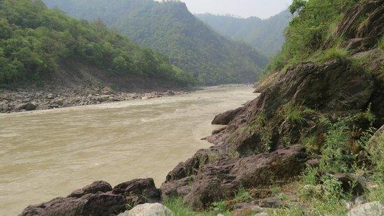 Bull's Retreat: Ganga river bank near the bulls retreat