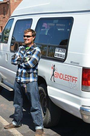 Bindlestiff Tours - Day Tours : JD standing guard