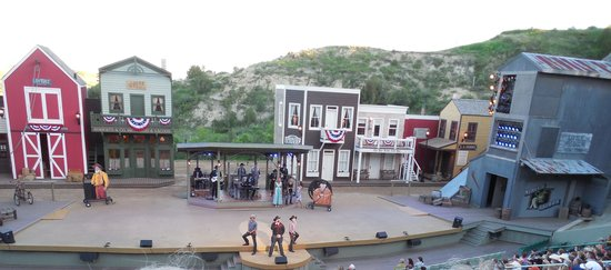 The outdoor stage at Medora Musical