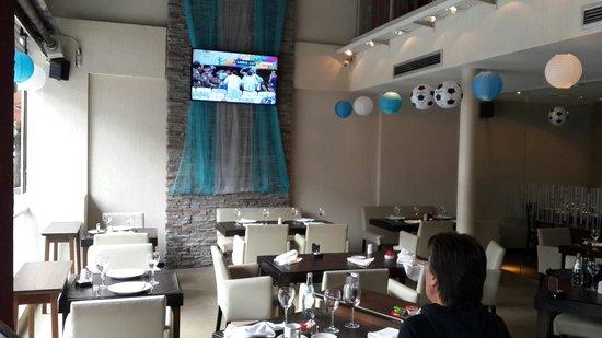 La Tiberina Restaurant : Parte exterior con calefaccion