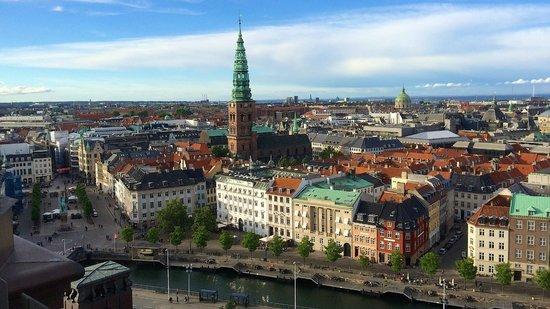 Palacio de Christiansborg: Et kig ud over København fra Tårnet på Christiansborg