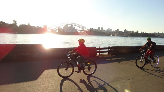 Bike Buffs - Sydney Bicycle Tours: Riding near Mrs Macquarie's lookout point