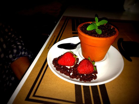 Retro Bistro: A knockout Tiramisu served in a plant pot