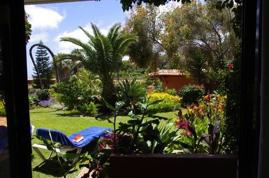 Quinta Splendida: Blick aus unserem Zimmer auf unseren privaten Garten