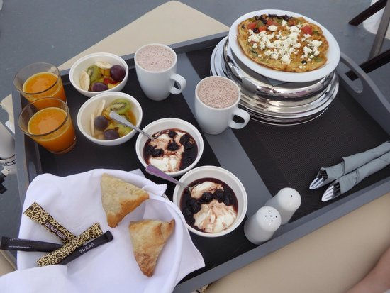 On The Rocks: Breakfast was fantastic! I ordered the yogurt and spinach triangles every morning. So good! Ther